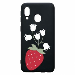 Etui na Samsung A40 Flowering strawberries