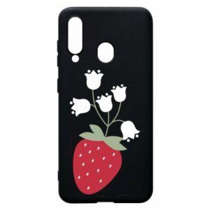 Etui na Samsung A60 Flowering strawberries