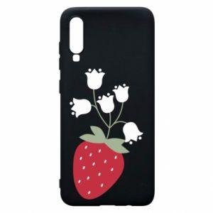 Etui na Samsung A70 Flowering strawberries