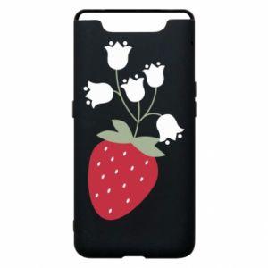 Etui na Samsung A80 Flowering strawberries