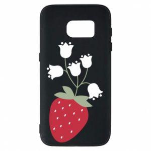 Etui na Samsung S7 Flowering strawberries