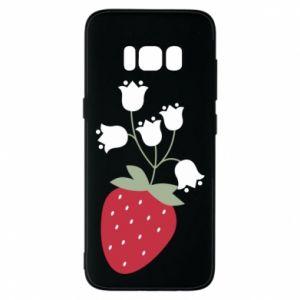 Etui na Samsung S8 Flowering strawberries