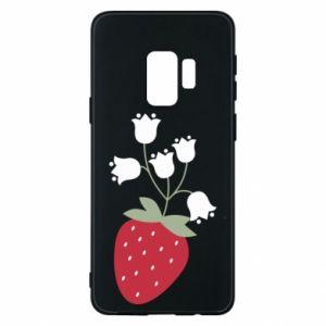 Etui na Samsung S9 Flowering strawberries