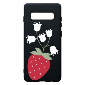 Etui na Samsung S10+ Flowering strawberries
