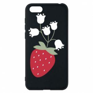 Etui na Huawei Y5 2018 Flowering strawberries