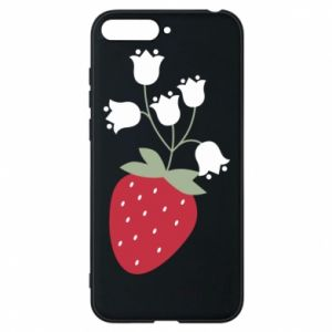 Etui na Huawei Y6 2018 Flowering strawberries