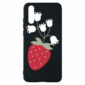 Etui na Huawei P20 Flowering strawberries