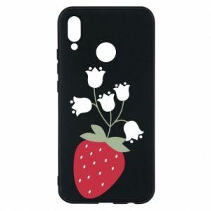 Etui na Huawei P20 Lite Flowering strawberries