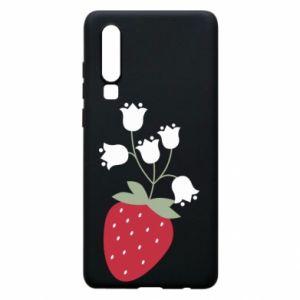 Etui na Huawei P30 Flowering strawberries