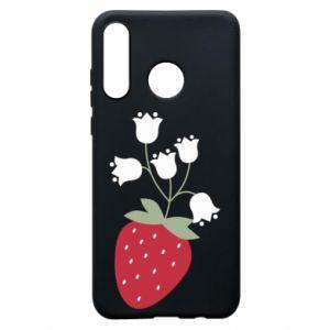 Etui na Huawei P30 Lite Flowering strawberries