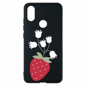 Etui na Xiaomi Mi A2 Flowering strawberries