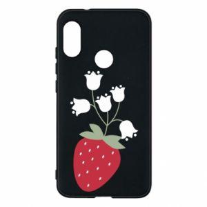 Etui na Mi A2 Lite Flowering strawberries