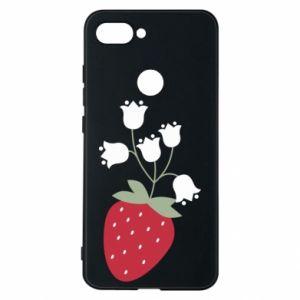 Etui na Xiaomi Mi8 Lite Flowering strawberries