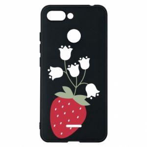 Etui na Xiaomi Redmi 6 Flowering strawberries