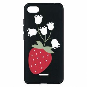 Etui na Xiaomi Redmi 6A Flowering strawberries