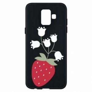 Etui na Samsung A6 2018 Flowering strawberries