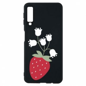 Etui na Samsung A7 2018 Flowering strawberries