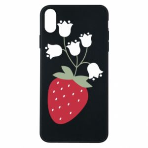 Etui na iPhone Xs Max Flowering strawberries