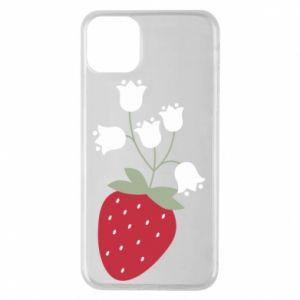 Etui na iPhone 11 Pro Max Flowering strawberries