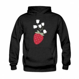 Bluza z kapturem dziecięca Flowering strawberries