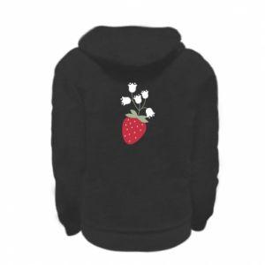 Bluza na zamek dziecięca Flowering strawberries