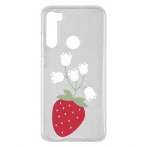 Etui na Xiaomi Redmi Note 8 Flowering strawberries