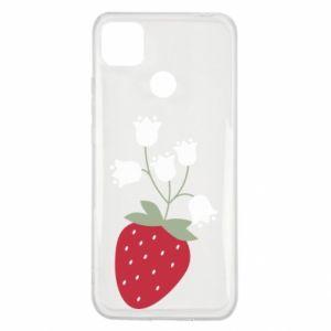 Etui na Xiaomi Redmi 9c Flowering strawberries