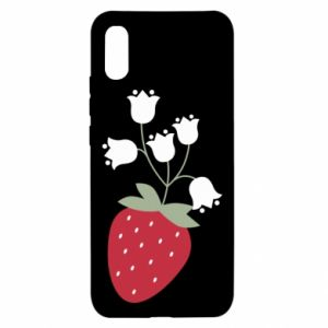 Etui na Xiaomi Redmi 9a Flowering strawberries