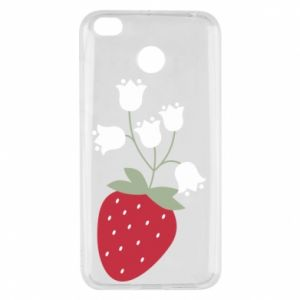 Etui na Xiaomi Redmi 4X Flowering strawberries