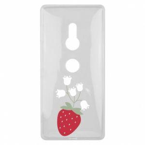 Etui na Sony Xperia XZ2 Flowering strawberries