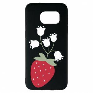 Etui na Samsung S7 EDGE Flowering strawberries