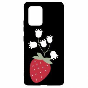 Etui na Samsung S10 Lite Flowering strawberries