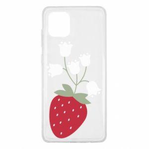 Etui na Samsung Note 10 Lite Flowering strawberries