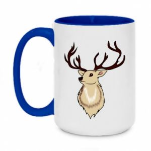 Two-toned mug 450ml Fluffy deer