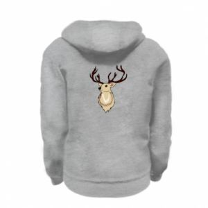 Kid's zipped hoodie % print% Fluffy deer