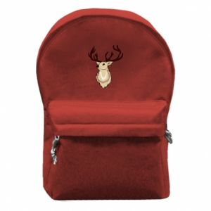 Backpack with front pocket Fluffy deer