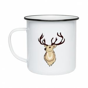 Enameled mug Fluffy deer