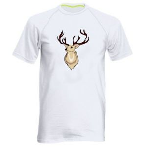Men's sports t-shirt Fluffy deer