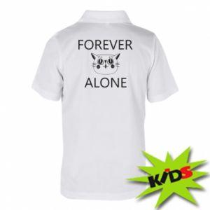 Dziecięca koszulka polo Forever alone