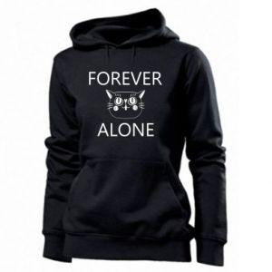 Women's hoodies Forever alone - PrintSalon