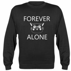 Sweatshirt Forever alone - PrintSalon