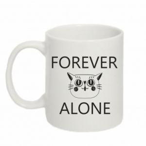 Mug 330ml Forever alone - PrintSalon