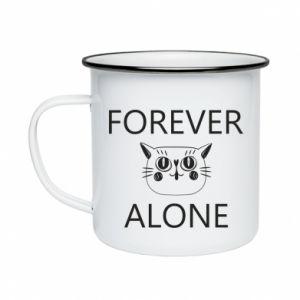 Kubek emaliowane Forever alone