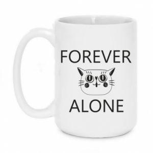 Mug 450ml Forever alone - PrintSalon