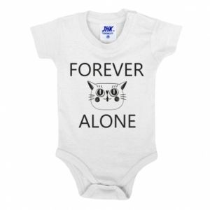 Baby bodysuit Forever alone - PrintSalon