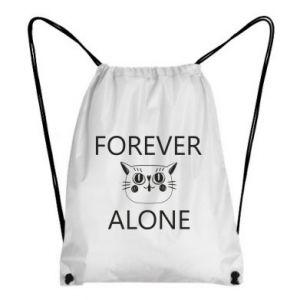 Backpack-bag Forever alone - PrintSalon
