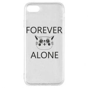 Phone case for iPhone 8 Forever alone - PrintSalon