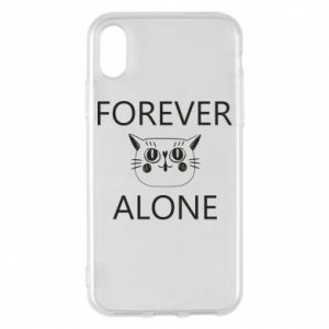 Phone case for iPhone X/Xs Forever alone - PrintSalon
