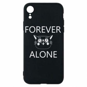 Phone case for iPhone XR Forever alone - PrintSalon