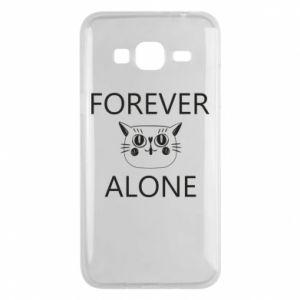 Phone case for Samsung J3 2016 Forever alone - PrintSalon